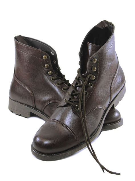 Vegan Shoes And Boots By Pennangalan Dreams by Wills Mens Vegan Work Boots Brown Wills