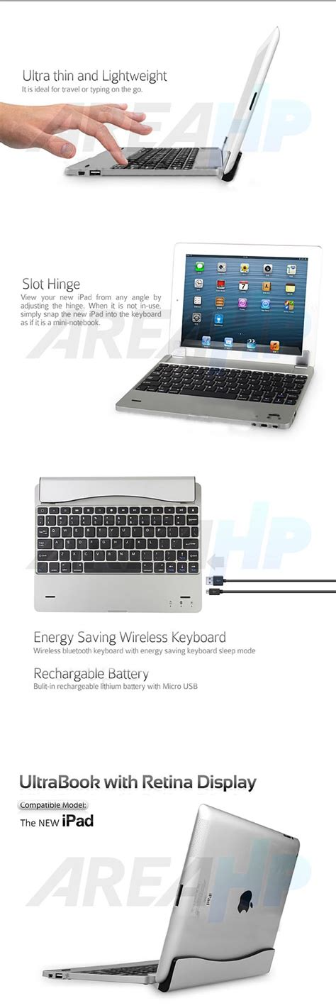 Ultra Slim Keyboard For 2 3 4 areahp ultra slim keyboard cover for 2 3 4