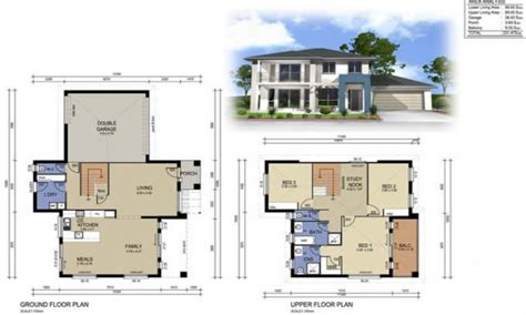 four bedroom double storey house plan house designs ireland 2 story home deco plans