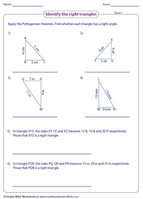 The Pythagorean Theorem Worksheet Answers by Pythagorean Theorem Worksheets