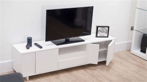 Tv Cabinet White Smf modern tv unit white oak veneer stylish storage cabinet