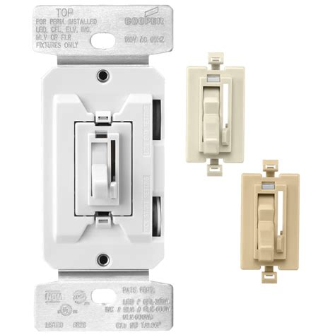 light dimmer switch lowes shop cooper wiring devices trace 8 white ivory light