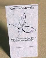 earring tent card template eluna jewelry as a crafter earring cards and