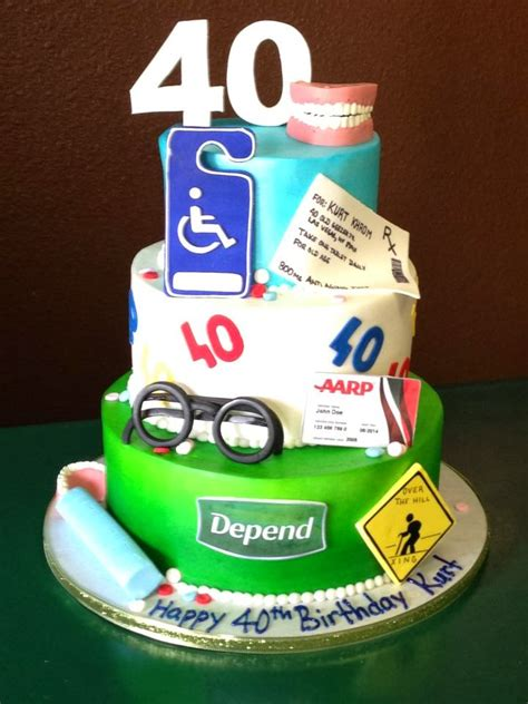 40th Birthday Cakes by 40th Birthday Cakes Fomanda Gasa