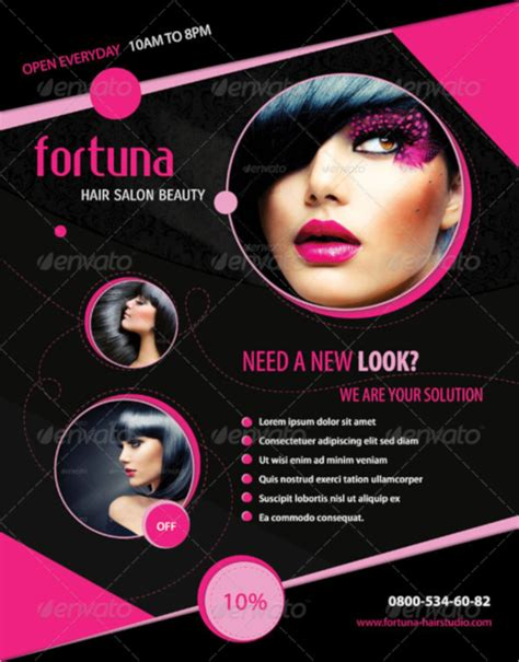 18 hair salon flyer template psd free eps format download