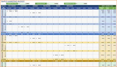 10 monthly expenses spreadsheet template excel excel