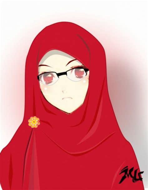 wallpaper animasi jilbab kumpulan gambar kartun muslimah sedih terbaru
