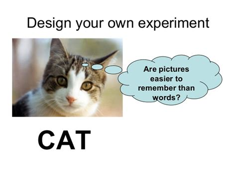 design your experiment design your own word memory experiment