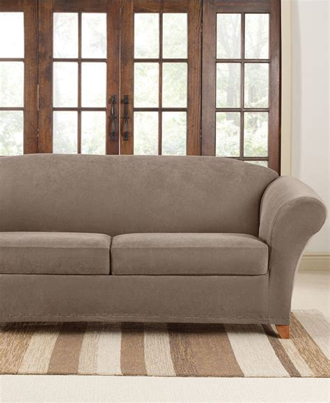 large sofa slipcover stretch sure fit stretch pique 2 cushion sofa slipcover shops