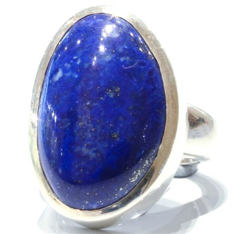 Handcrafted Jewellery Melbourne - bold and contemporary lapis lazuli handmade silver ring