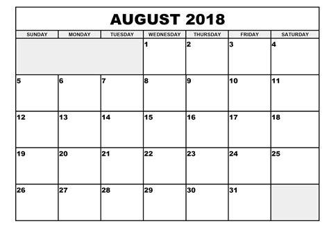 printable calendar august 2018 august 2018 printable calendar yearly printable calendar