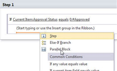sharepoint 2010 workflow parallel block adding else if conditional branch in sharepoint