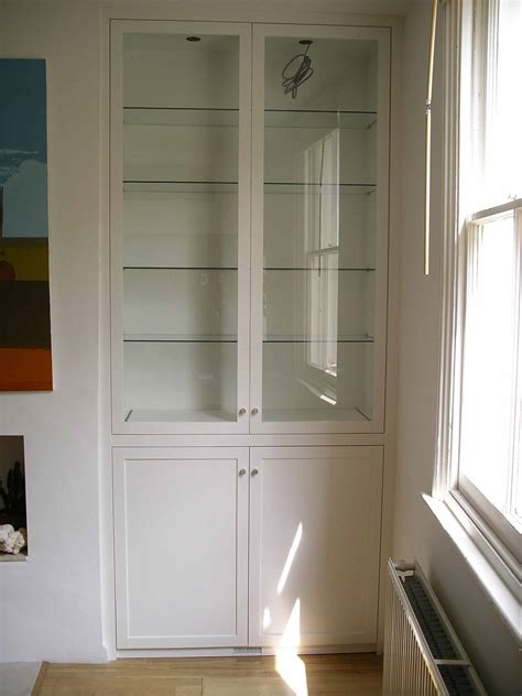 Fireplace Cabinets And Bookcases Glazed Alcove Cabinet Handmade By Peter Henderson