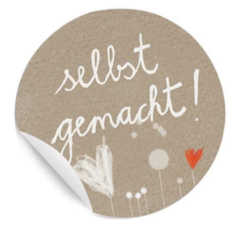 Aufkleber Selbstgemachte Marmelade by Selbst Gemacht 24 Sticker 4cm Etiketten Beige Braun