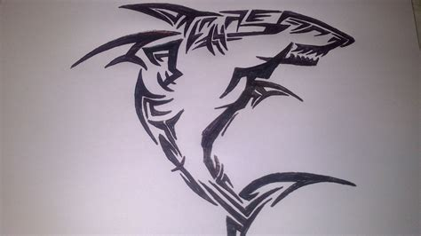 great white shark tribal by 12097596 on deviantart