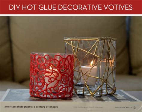 diy colorful holiday votive candles  hot