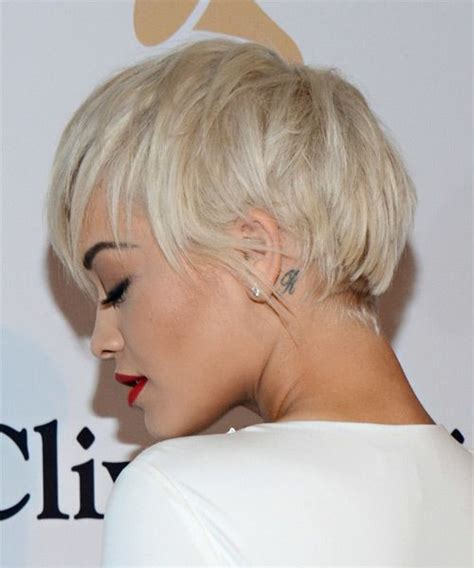 haircuts hairstyles com rita ora short straight casual hairstyle with layered