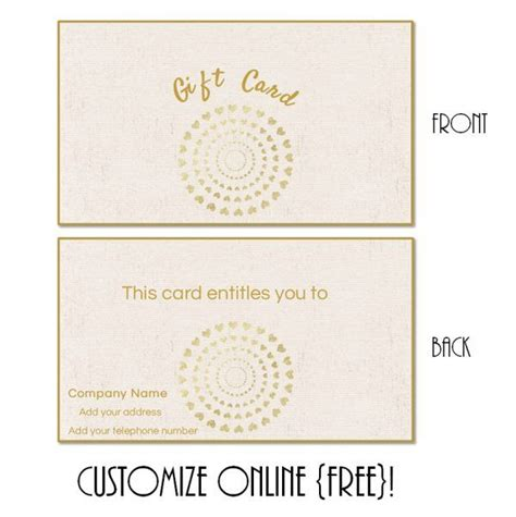 instant printable gift cards free printable gift card templates that can be customized