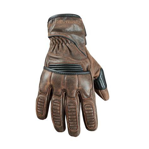 vintage motocross gloves street steel scrambler leather motorcycle gloves lg brown