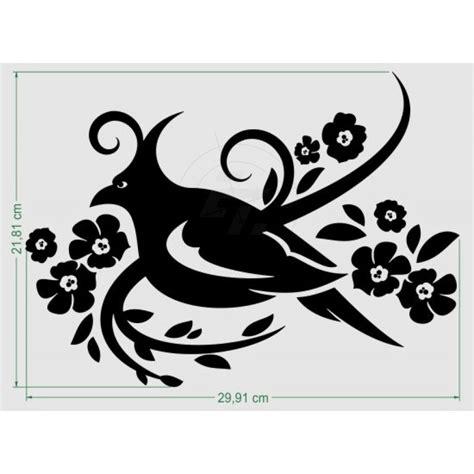 Auto Sticker Vogel by Autoaufkleber Vogel Mit Blumen