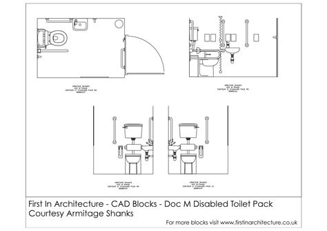 Free Cad Blocks Doc M Disabled Toilet First In Architecture Toilet Template Autocad