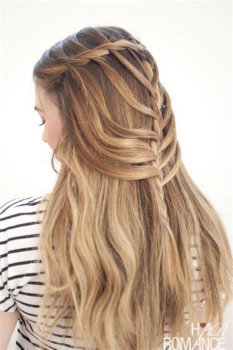 free fall braids waterfall mermaid braid tutorial for long hair hair romance