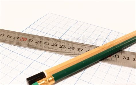 How To Make A Ruler Out Of Paper - drawing paper pencil and ruler on a white background