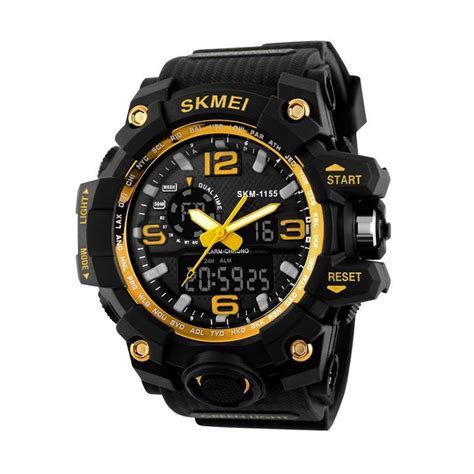 Skmei Jam Tangan Analog Digital Pria Ad1217 Hitam Biru jual skmei 1155bgd jam tangan pria hitam harga