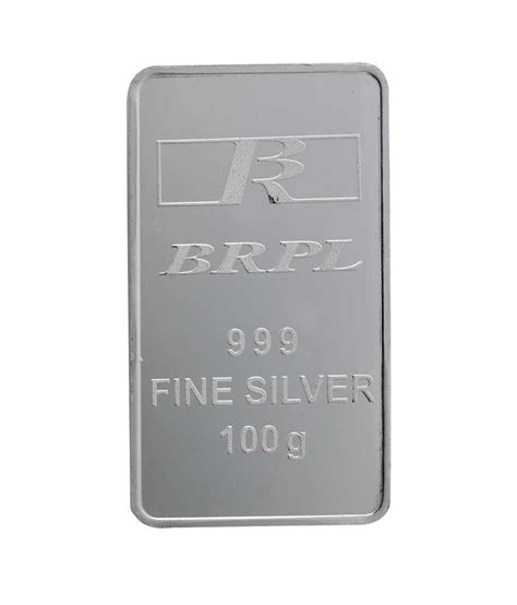 100 gram silver bar india bangalore refinery 100 gram 999 purity silver bar buy