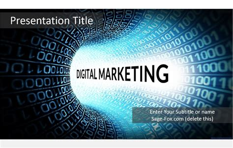 Free Digital Marketing Powerpoint Template 5619 Sagefox Marketing Powerpoint Templates Free