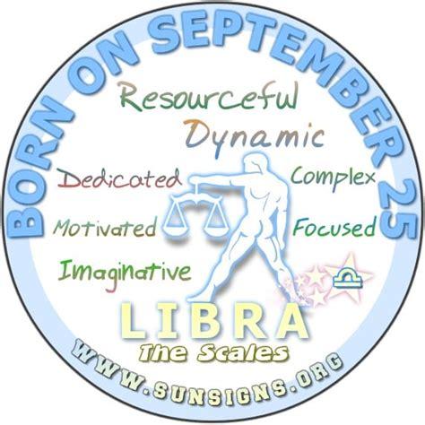 september 25 zodiac birthday horoscope personality sun signs