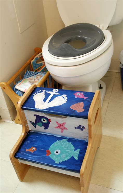 bathroom step stool for toddlers ocean themed step stool for kids the shirley journey
