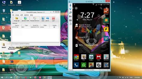 android phone from pc mirror android phone screen on pc via usb no root