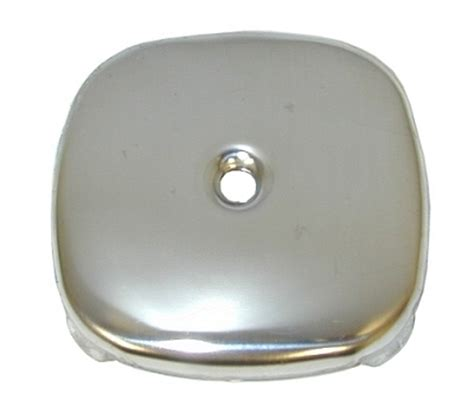 overflow plate bathtub polished ss 1 hole square overflow plate