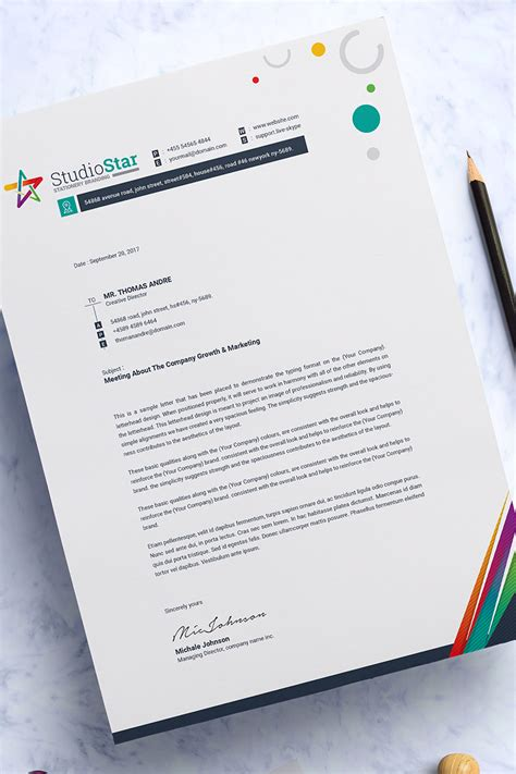 ms word letterhead corporate identity template