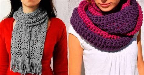 bufanda tejida crochet 2016 16 bufandas de crochet y dos agujas para mujer