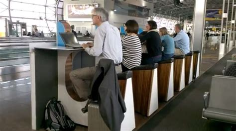 cycling phone charge stations schiphol airport