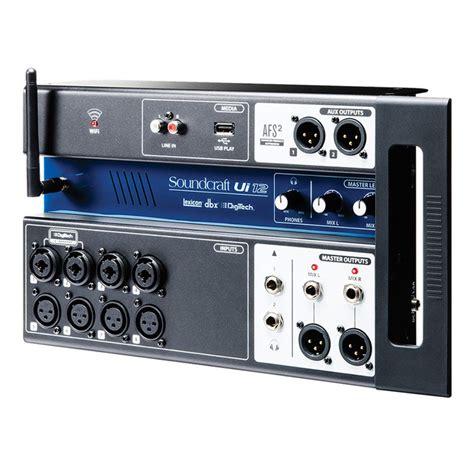 Mixer Digital Soundcraft soundcraft ui12 digital rack mixer at gear4music