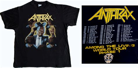 velva anthrax t shirt among the living 1987