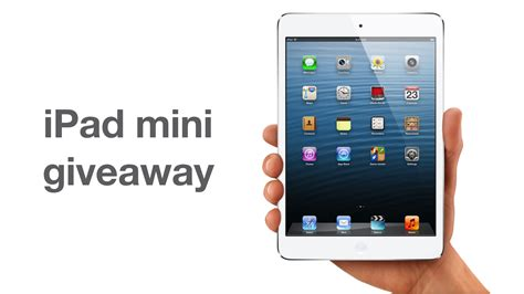 Lucky Giveaways - here is your second chance to win an ipad mini