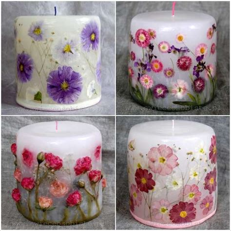 Decoupage Candles - how amazing are these decoupage flower candles