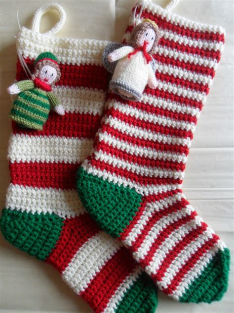 crochet pattern christmas stocking free crocheted christmas stockings on pinterest crochet