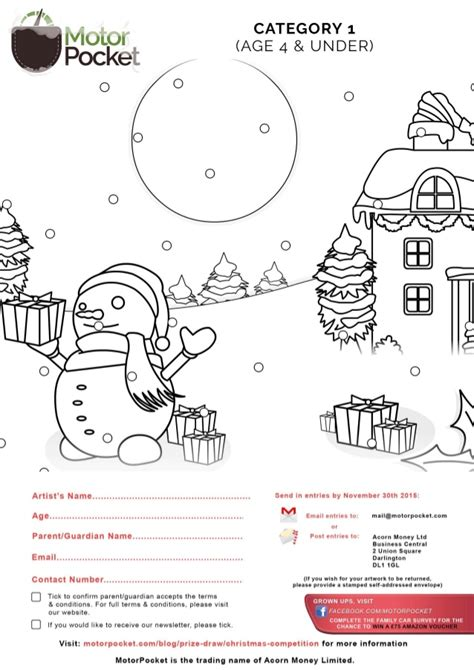Christmas Children Drawing And Colouring Competition Templates Prize Draw Terms And Conditions Template