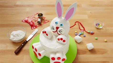 Roll Cake Rabbit how to make a easter bunny rabbit cake bettycrocker
