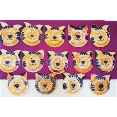 Tiger Paper Plate Craft - paper plate craft idea for crafts and worksheets