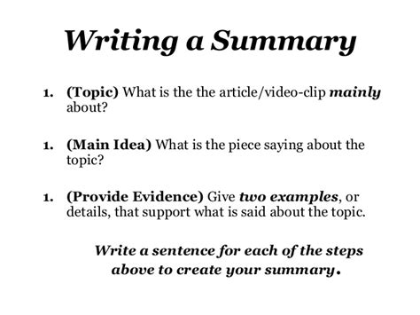how to write a research summary paper exle of how to write a summary paper of an article