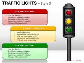 stop light template traffic lights style 3 powerpoint presentation templates