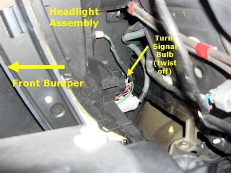 lexus rx300 parking light bulb replacement here s how to change front right turn signal bulb with