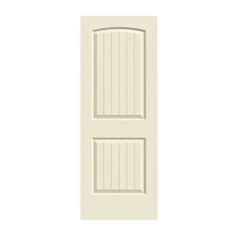 solid interior doors home depot jeld wen 24 in x 80 in molded smooth 2 panel arch plank