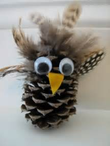 pine cone crafts ideas pine cone owl craft 4th grade ideas